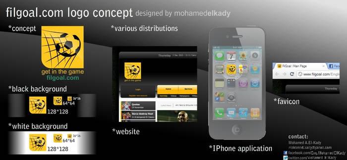 Filgoal.com logo design competition entry