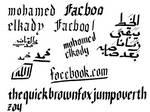Practicing Gothic font, Latin \ Arabic!