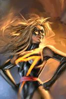Ms. Marvel Sketch by AlexGarner