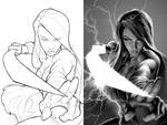 Psylocke Cover Process