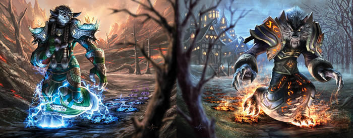 Warcraft Card Bookends by AlexGarner