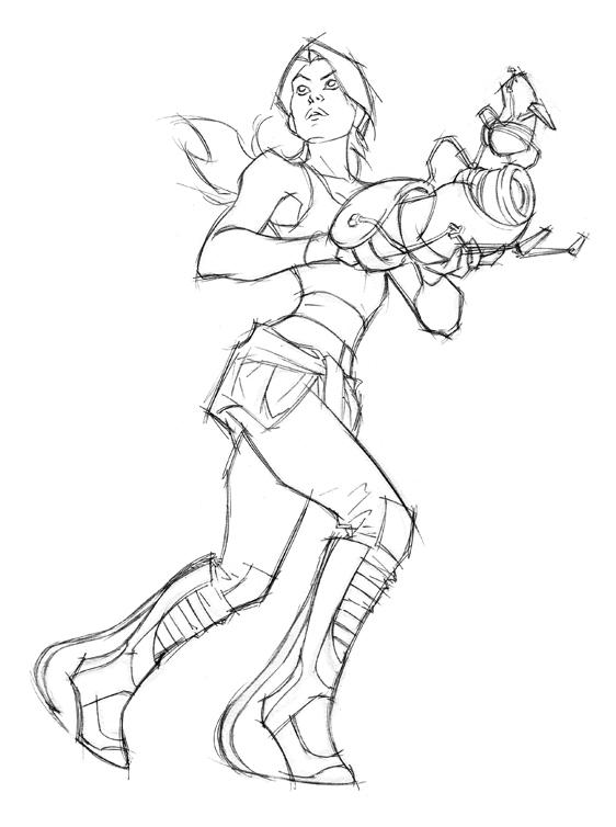 Portal 2 Sketch by AlexGarner