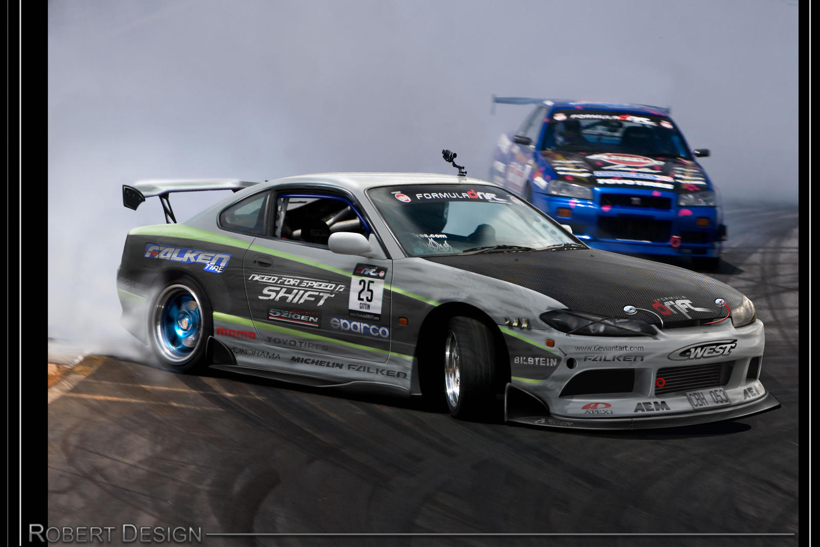 nissan silvia drift nfss by rob3rt design