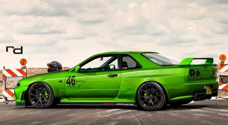 Skyline GT-R Green Race by Rob3rT----Design