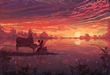Melodi di Ujung Senja by donsaid
