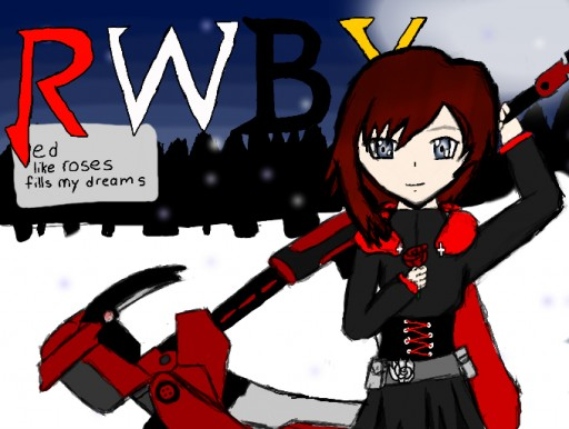 ruby 'red' rose RWBY by 13brainless13