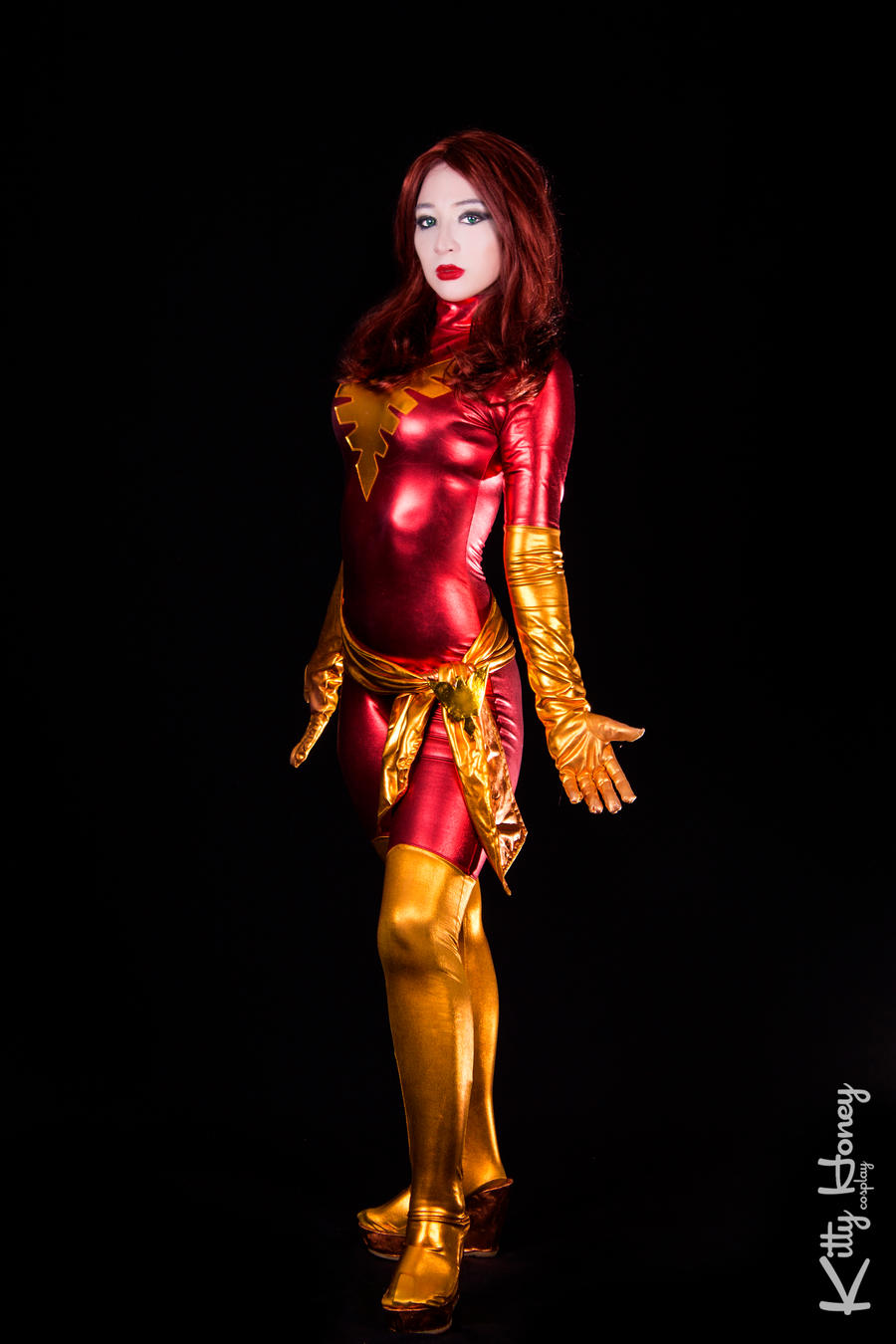 Dark Phoenix cosplay 02 by Kitty-Honey