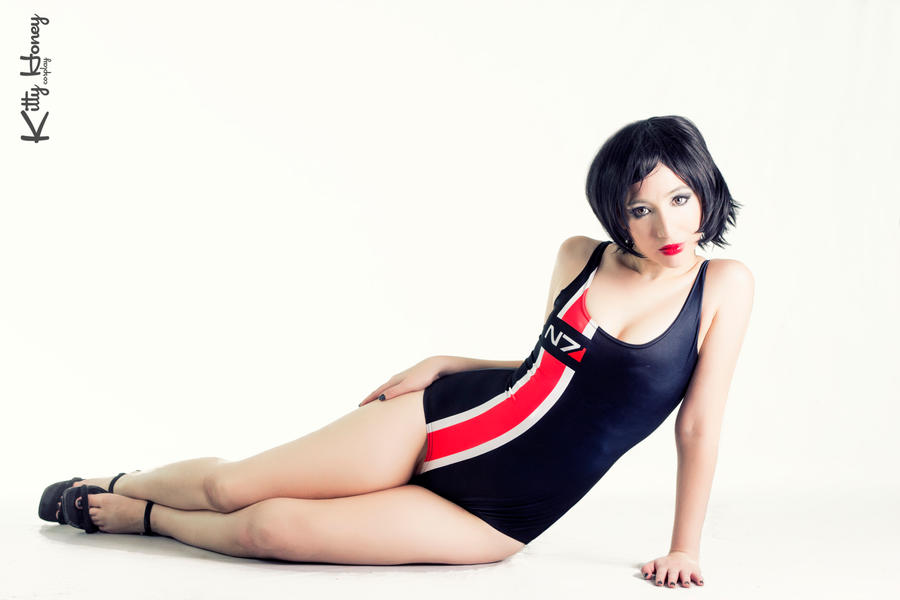 Mass Effect N7 Swimsuit by Kitty-Honey