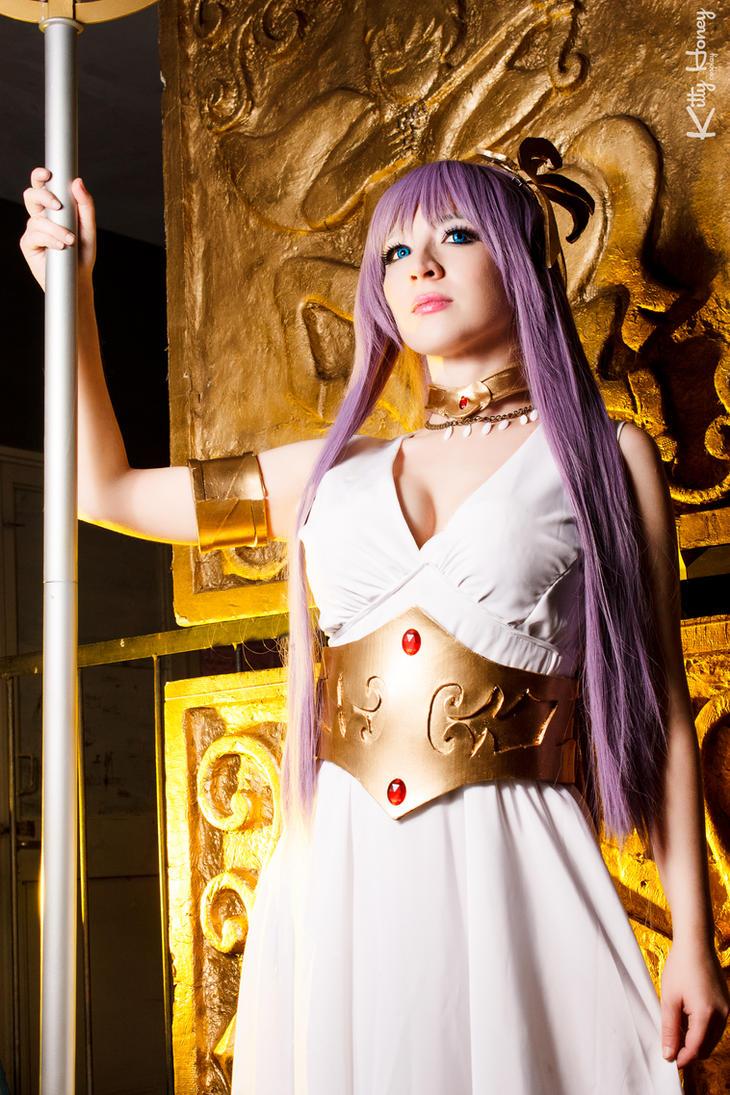 Athena Cosplay - Saint Seiya by Kitty-Honey