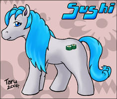 Sushi as a pony by taruto