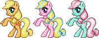 Applejack Pose Sprites by taruto