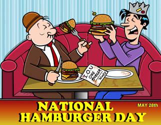 National Hamburger Day by TallToonist