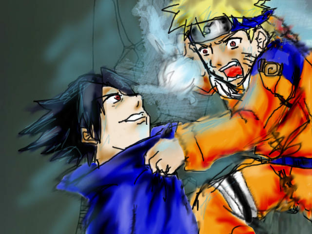 Naruto And Sasuke Fight By Aruarian0dance On DeviantART
