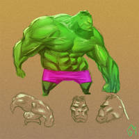 hulk sketch by GaboMelo