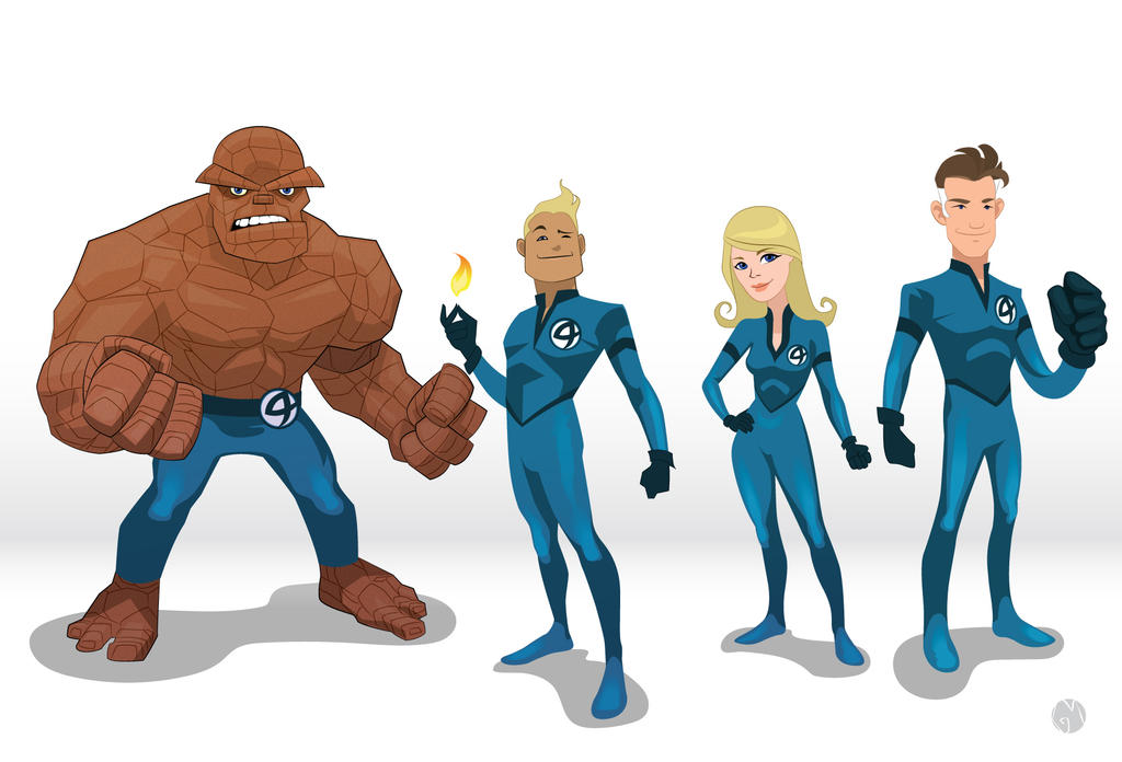 Fantastic 4 Cartoon Characters : Fantastic four by gabomelo on deviantart