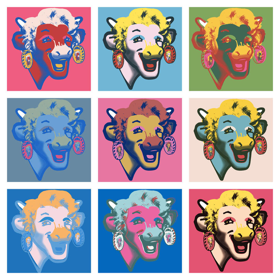 Vache Qui Rit Warhol by FaKo on DeviantArt