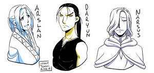 Arslan, Daryun, and Narsus