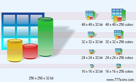 3d bar chart with shadow Icon