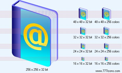 Address book Icon by jpeger