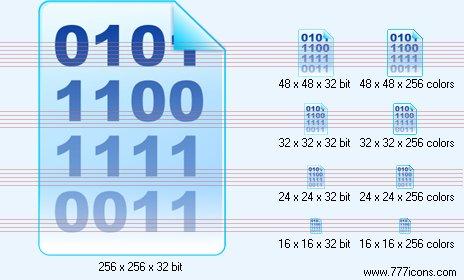 Binary data Icon by jpeger