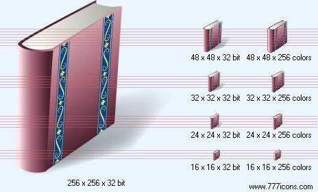 Book with shadow Icon