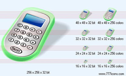 Calculator with shadow Icon by jpeger