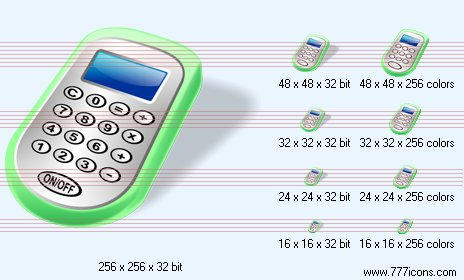 Calculator with shadow Icon