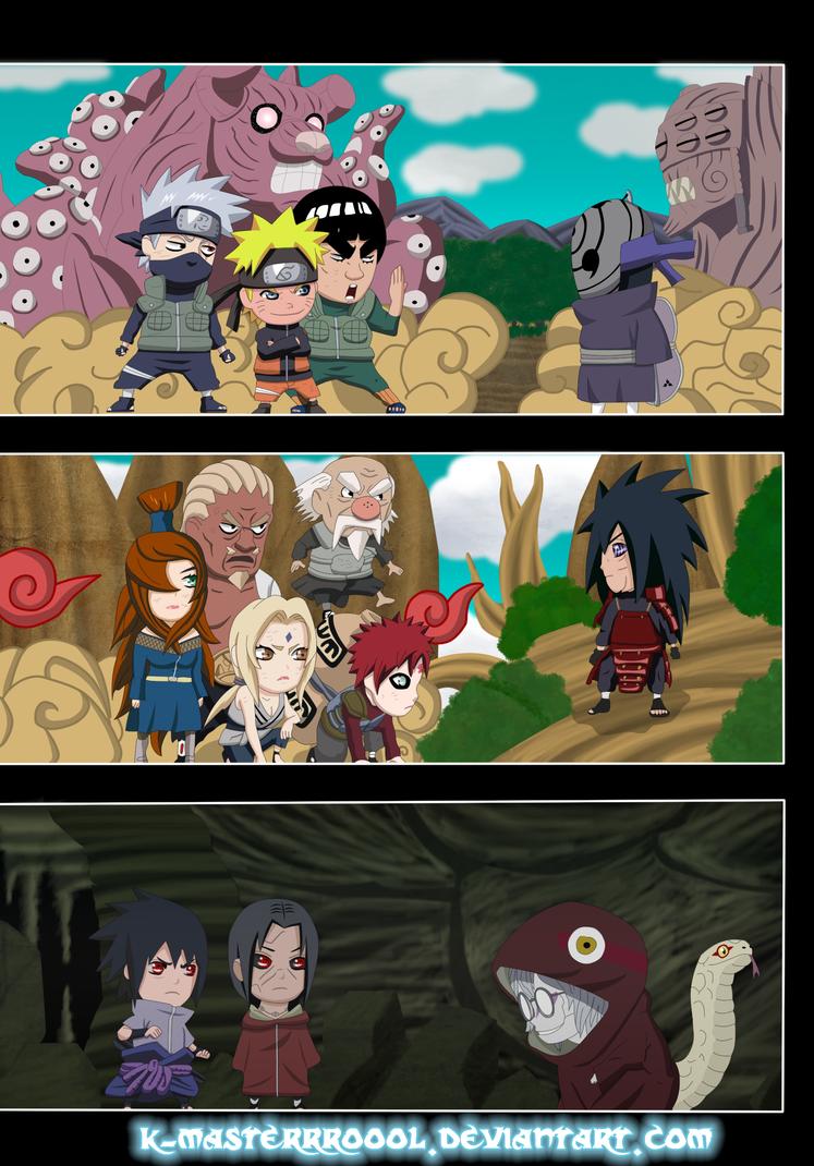 Tres Batallas Shinobis by k-masterrroooll