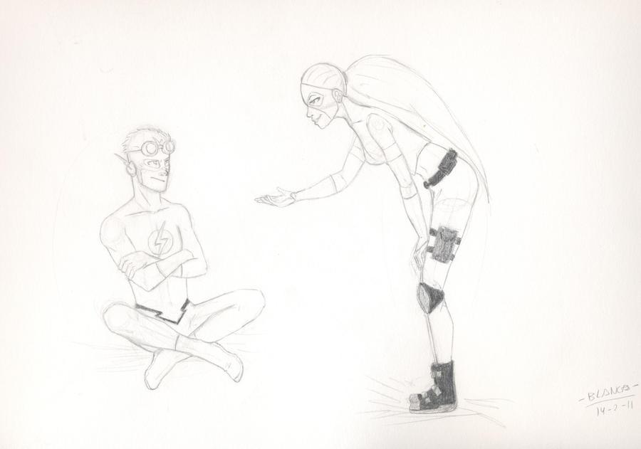 Kid Flash and Artemis by Nocturnidades on DeviantArt