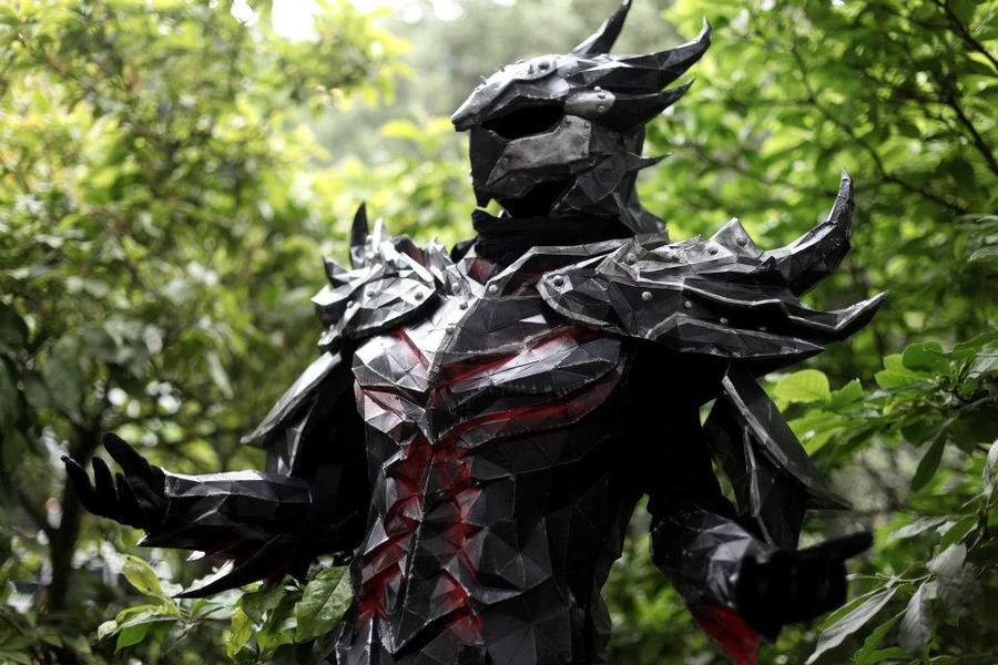 Daedra Armor Skyrim by PriamWolf