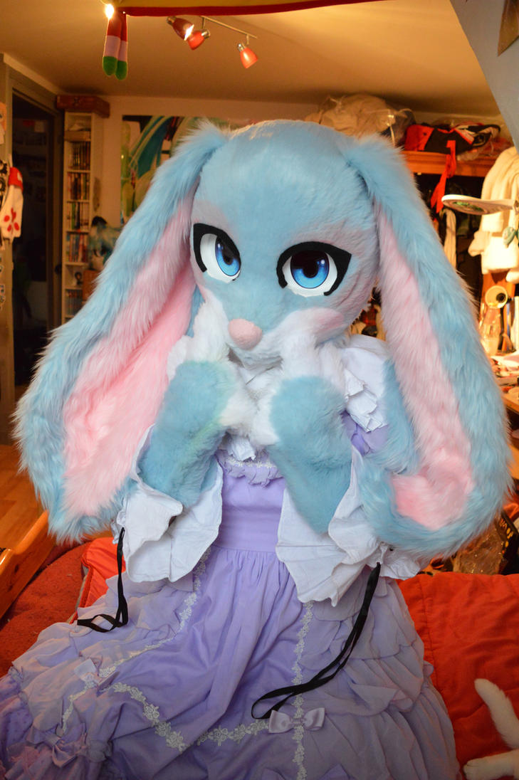 Bunny fursuit =^^= by PriamWolf