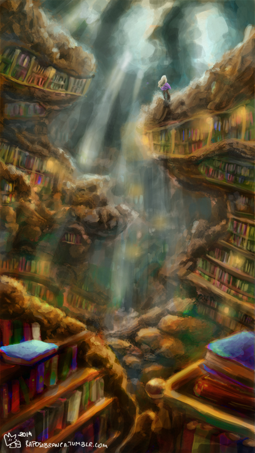 Gwen's Library by RaposaBranca