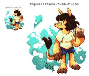 Pixel art - Tati the armadillo