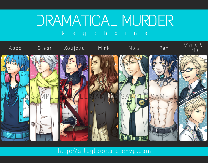 [Dramatical Murder] Keychains by lacelazier