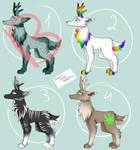 Deer adopts - (2 - 3 - 4 OPEN) by PixelsPointAdopts