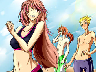 A day at the beach_Colored