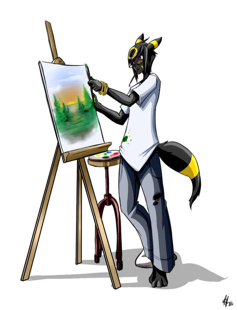 Painting at the ready by kaizer33226