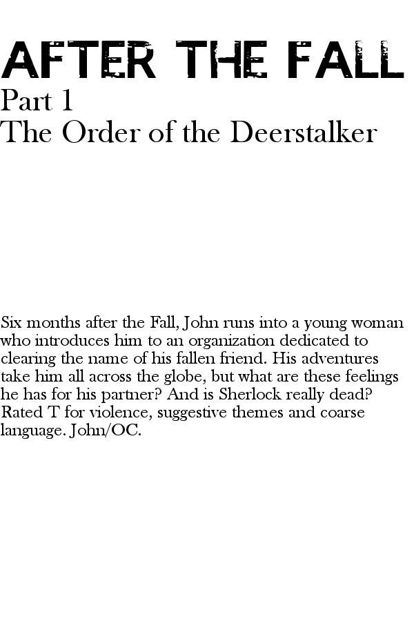 The Order of the Deerstalker - Cover Art by crazyzukofangirl1280