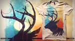 Entangled Deer
