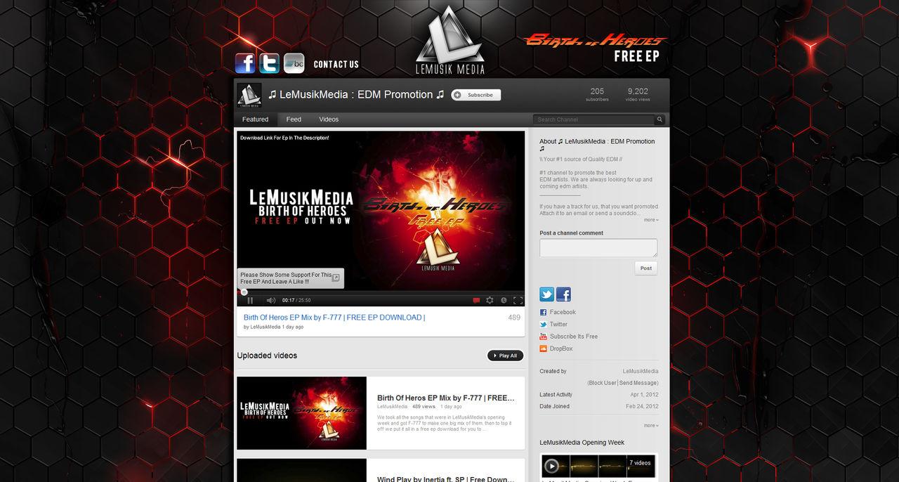 LeMusikMedia Youtube Background by Axeraider70 on DeviantArt