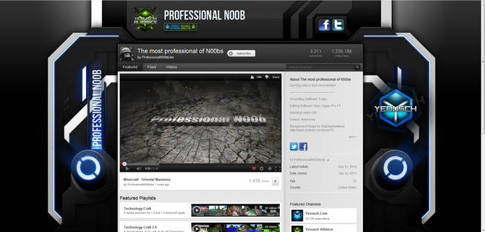 Professional N00b Youtube Background