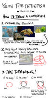 Keith the Cuttlefish  How to Draw