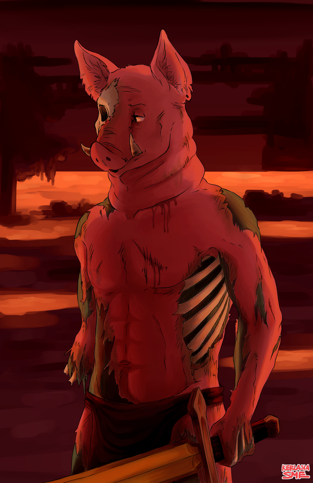 Zombie Pigman (2014) by Kerlasia on DeviantArt