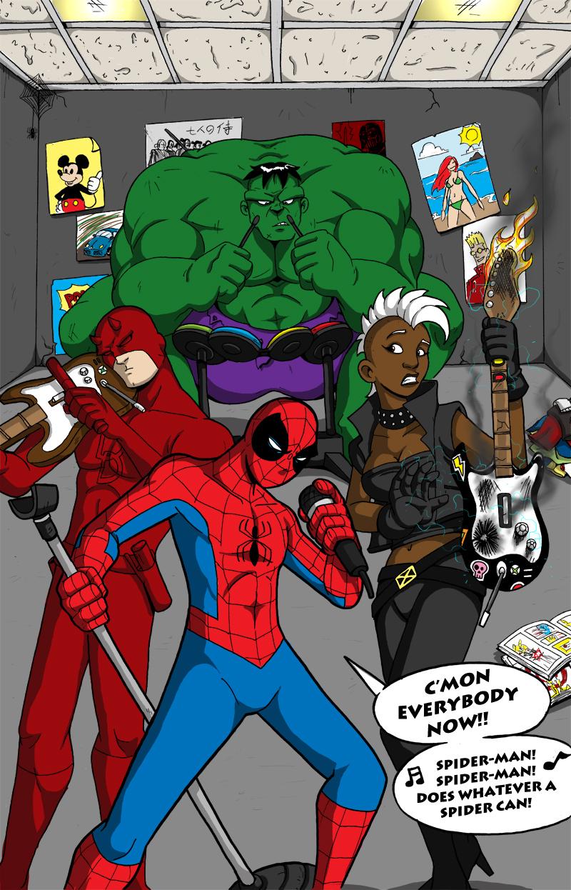 Marvel Rock Band by Gigatoast