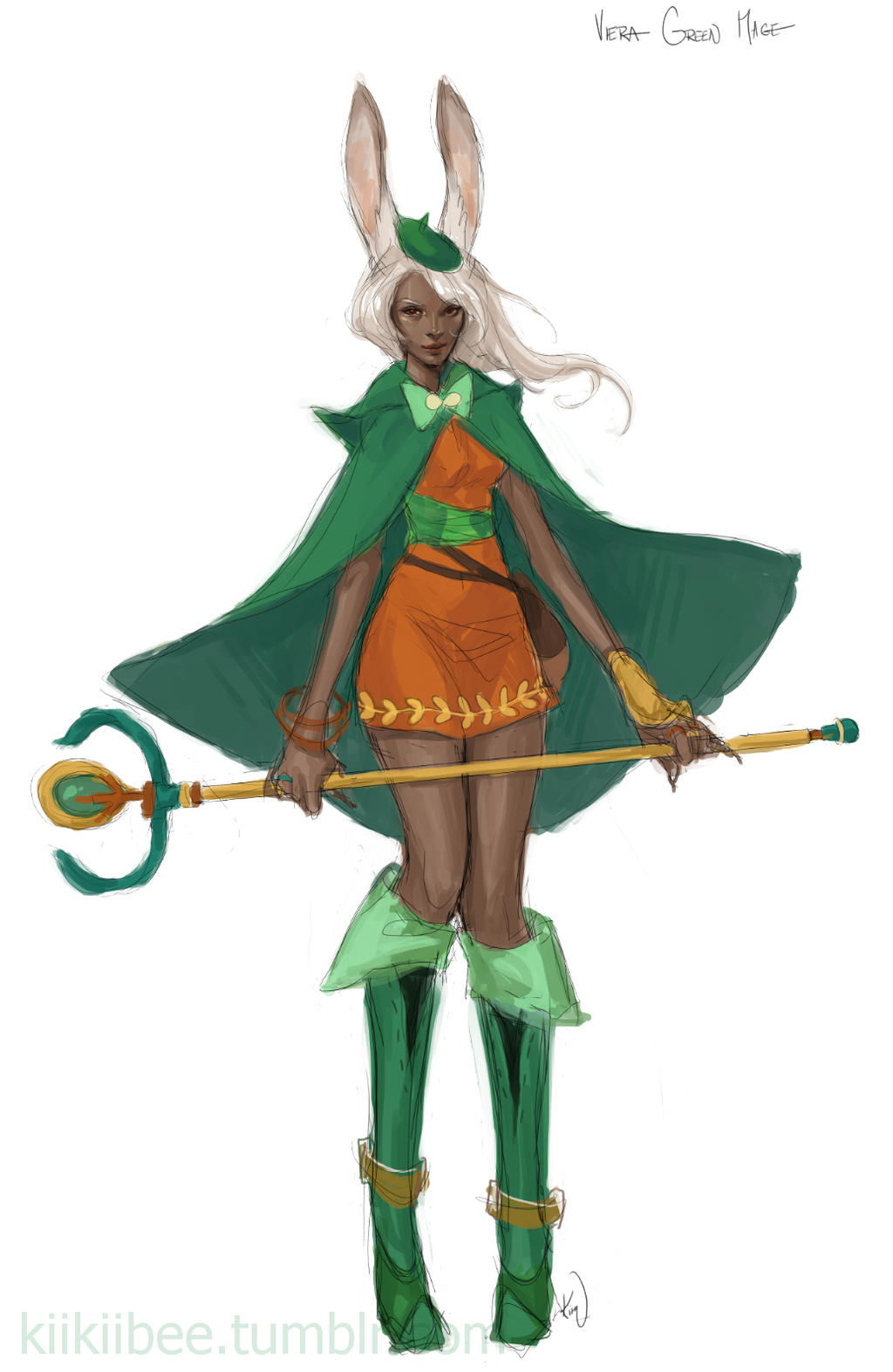 Green Mage Viera Green Mage by