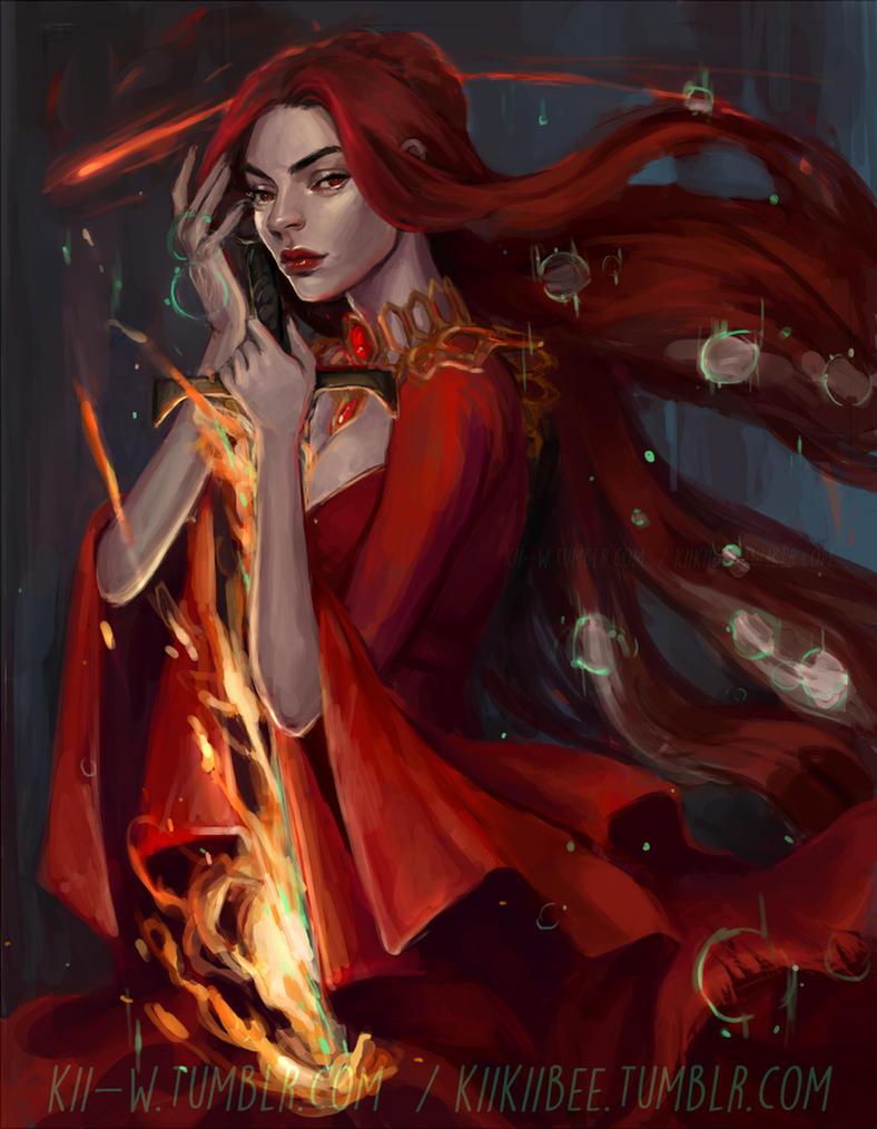 the Red Priestess by kiikii-sempai