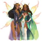 commission. Kayla and Josara by kiikii-sempai