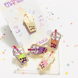 Bubble Tea: Enamel Pin