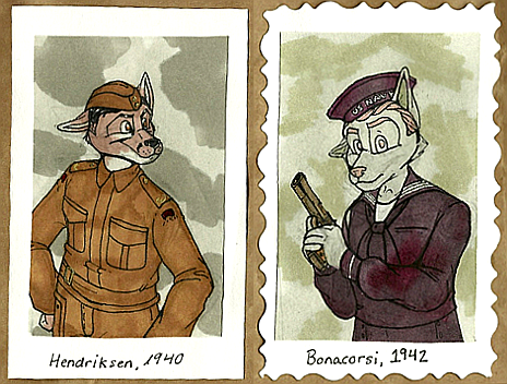 1940's Badges -- Hendriksen + Bonacorsi by Geistlicher