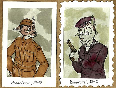 1940's Badges -- Hendriksen + Bonacorsi by Geistlicher